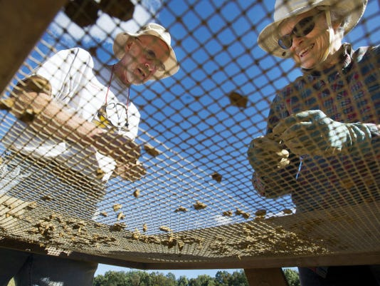 Don and Terry Reichard, of West Manchester Township, saw a program about digs in the western states and said curiosity drew them to the Camp Security dig in Springettsbury Township .