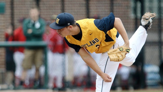 John Baker delivered a one-hit shutout with 12 strikeouts to help Hartland beat Rochester, 6-0, on Tuesday in the Division 1 quarterfinals.