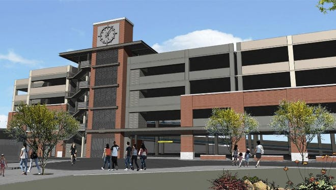 Gilbert is spending $14 million to build a second parking garage in its Heritage District.The 1.2-acre structure willadd 600 more parking spaces, valet services, electric car hookups and an illuminated tower clock.