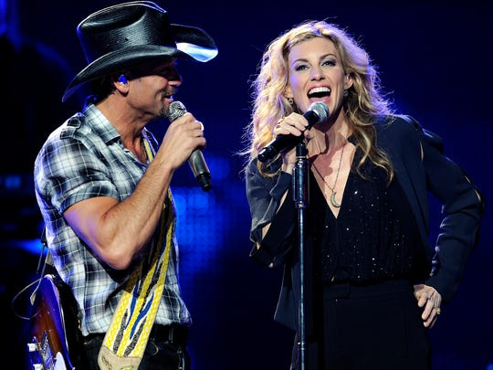 Tim McGraw and Faith Hill will perform April 29 at Bankers Life Fieldhouse.