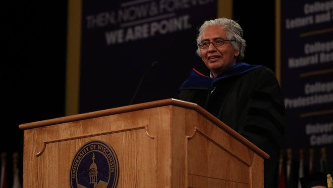Carlos Castillo-Chavez, a mathematic biologist who graduated from UW-Stevens Point in 1976, told graduates to keep learning and serve their communities.