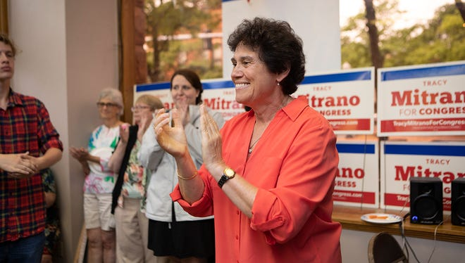 Tracy Mitrano at the opening of her headquarters in Corning.