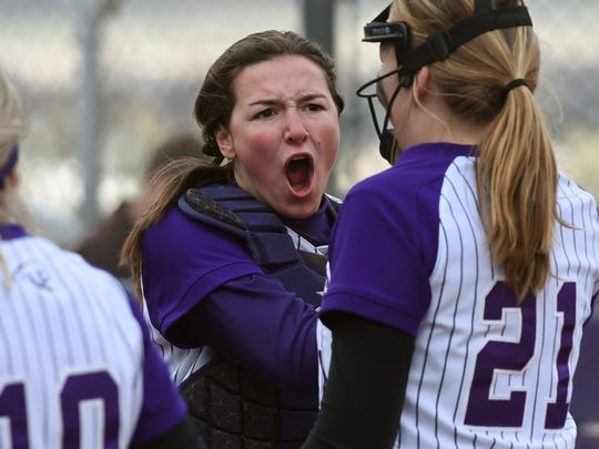 Spanish Springs catcher Aubrey Parks gets fired up