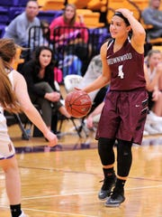Brownwood guard Mallory Garcia calls out a play during Friday's 52-29 loss to Wylie in the first game of District 5-4A play.