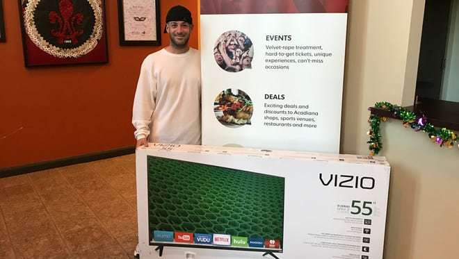 Joel Guilbeau won a 55-inch TV through The Advertiser's Insider program! Keep an eye on our Insider page to see how you can win.