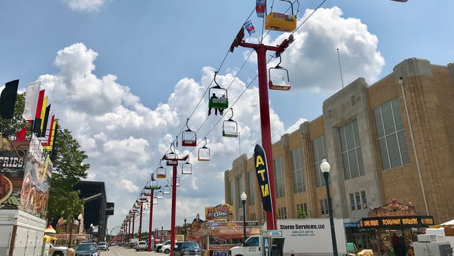 The Subaru Skyride is scheduled to operate every day of the Indiana State Fair, from Aug. 4 to Aug. 20.