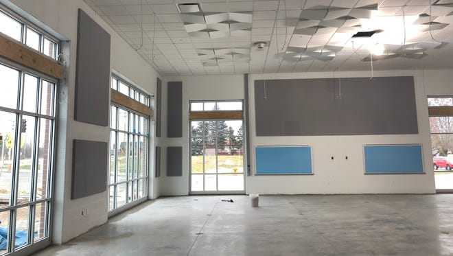 The new band, orchestra, and choir classrooms will have much more space than before, and also have some natural light, something missing from the previous rooms.