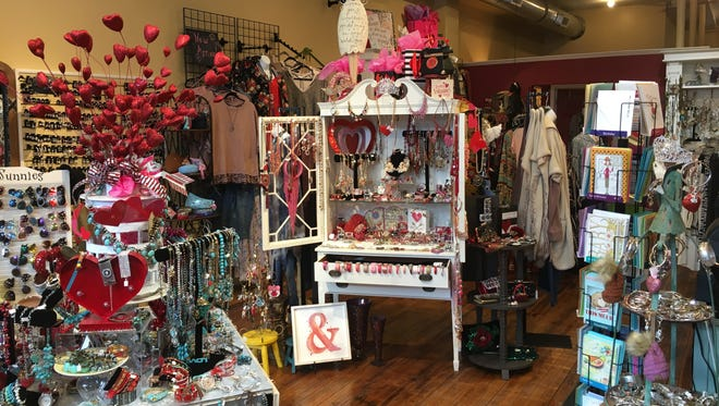 The interior of A Bag Lady's current location at 412 Dousman St. The shop will close on Feb. 17, 2018, to move to 131 N. Broadway where it will re-open on March 1.