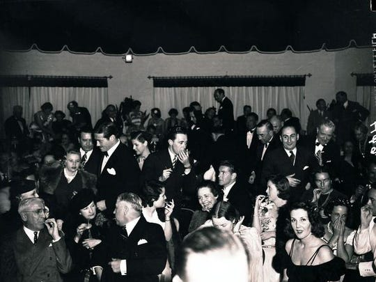 A New Year's Eve party in 1940 at the Racquet Club in Palm Springs.