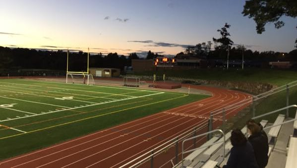 The field at Vahalla High School. Briarcliff and Valhalla tied 0-0 on Wednesday, October 14th, 2015.