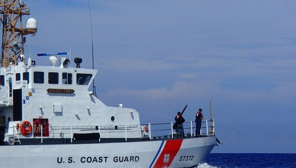 Three people were rescued off Fort Pierce Tuesday morning.