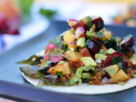 Walnuts take the place of meat in this no-cook vegetarian taco.
