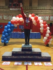 Ryan Pietz won the Level 5 competition at the New Jersey Men's USA Gymnastics statewide competition.