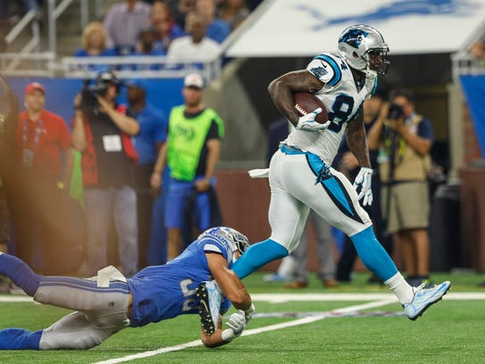 Lions safety Miles Killebrew tries to stop Panthers