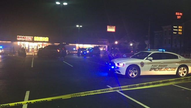 Multiple police agencies respond to an officer-involved shooting at the Family Dollar in Ludlow, Kentucky, on Tuesday, Dec. 22.