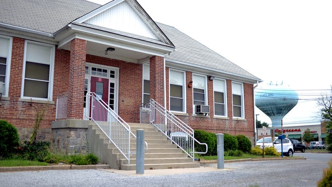 The school building at the intersection of Main Road and Oak Avenue is up for sale, Monday, Aug. 8, 2016 in Vineland.