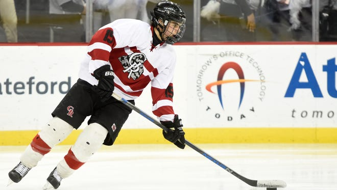 Senior Jake Kinney and Glen Rock take aim at a fifth straight Ice Cup title this hockey season.