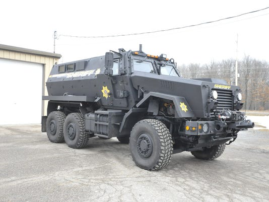 Wood County armored vehicle