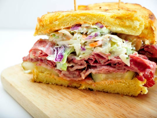 A Reuben sandwich from Shore Fire Grille in Surf City.