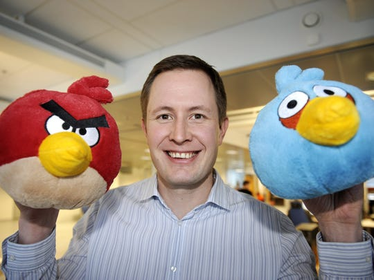 Rovio Chief Executive Officer (CEO) Mikael Hed poses