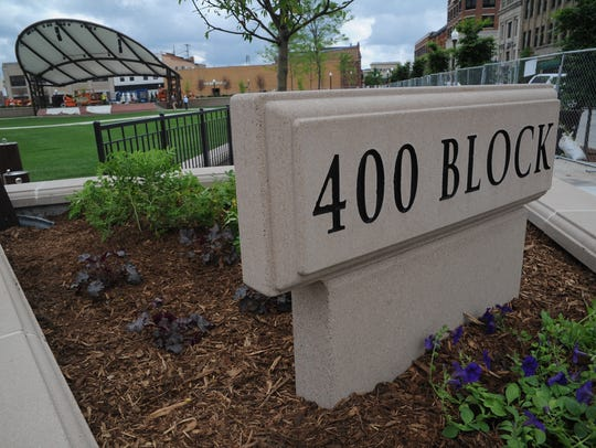 The 400 Block in downtown Wausau.