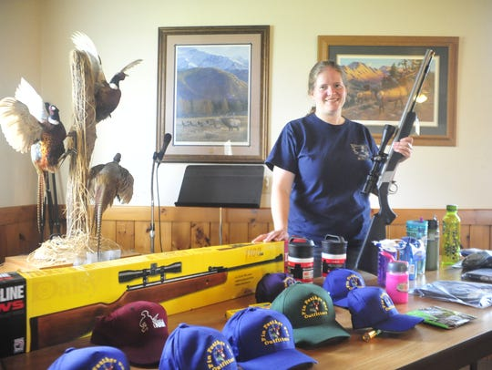 Ruth Malpas of Elkhorn Lake Hunt Club stands with a