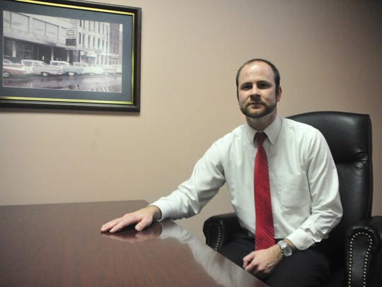 Brian Gernert sits in one of the conference rooms in