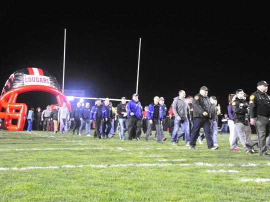 More than 100 first responders were honored Friday at the Crestview High School football game.