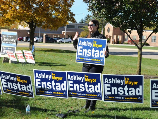 Ashley Enstad was one of seven write-in candidates for mayor.