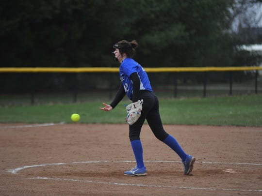 Hannah Messmer struck out two batters but forced several into ground outs and pop ups.