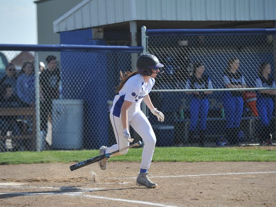 Lydia Tadda crossed home plate twice and belted an RBI triple.