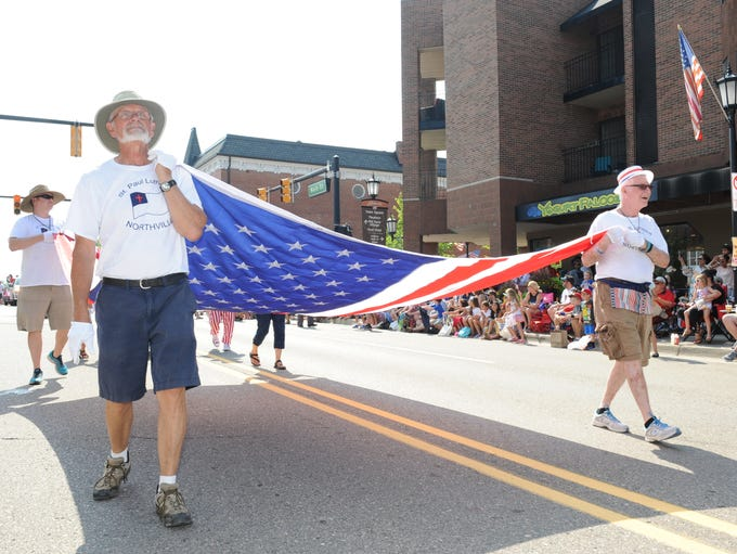 St. Paul Lutheran Church brings out America's red,
