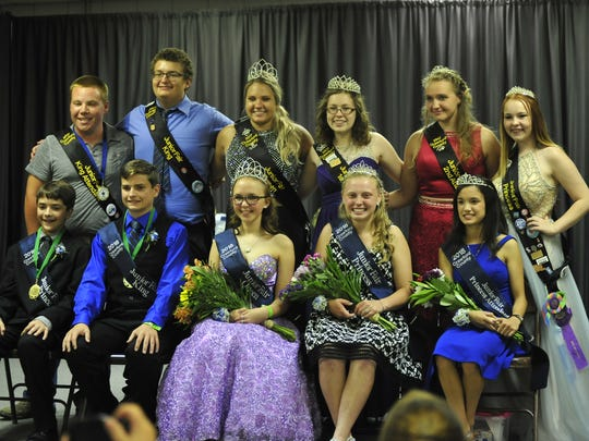 The outgoing in and incoming royalty were all smiles Sunday night at the Crawford County Fair.