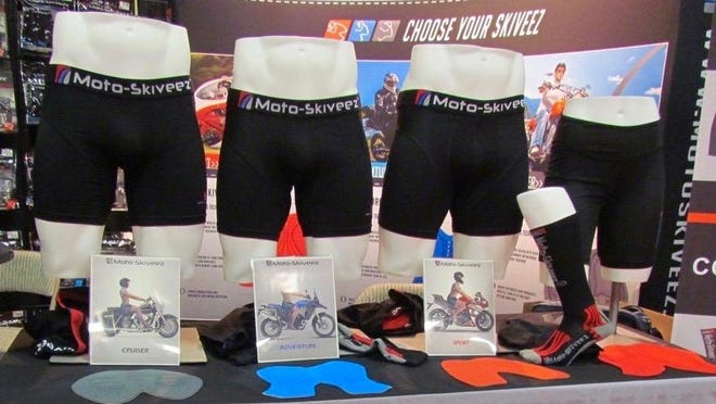 Shawn Lupcho's line of undergarments are designed to put proper padding and support where needed for riding specific types of motorcycles.