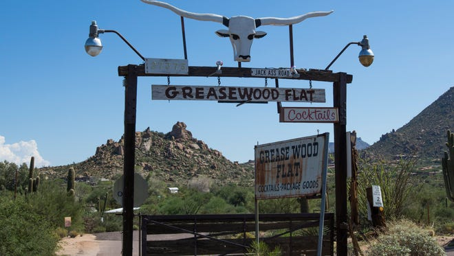 Scottsdale's iconic Greasewood Flat.