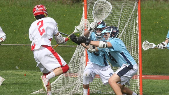 North Rockland lacrosse beat Suffern 13-12 in overtime at North Rockland May 6, 2015.