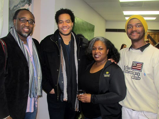 From left, Darius B. Williams, S. Julian Jenkins, Edna Donald and Averell Mundie at Exceed Kitchen & Bath new location opening.