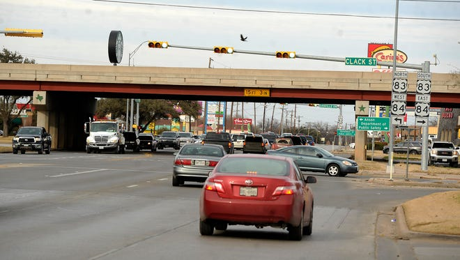 Cars make their way through the intersection at Buffalo Gap Road and Clack Street. The intersection is the most dangerous in Abilene, according to a list put together by a Houston attorney.