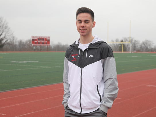 Conor Malanaphy, a runner on the Tappan Zee Track and