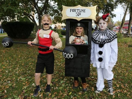 Will Whalen, Maya Whalen and Ava Tichy teamed up for a vintage circus theme. The Indianola Parks and Recreation Department hosted a children's costume party on the Indianola Square on Oct. 28.