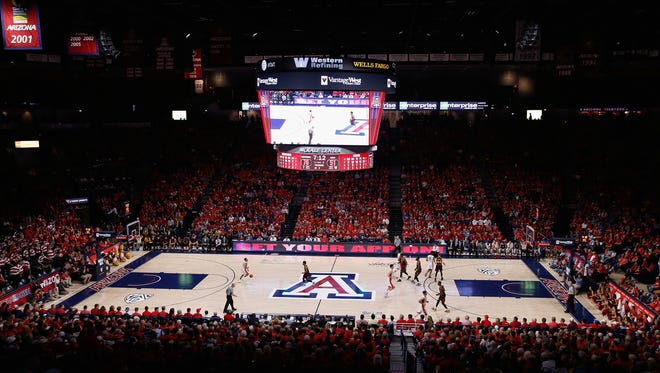 McKale Center in Tucson, home of the Arizona Wildcats basketball teams.