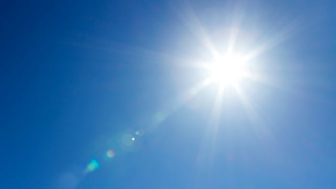 Stock photo: Sun at the sky with copy space