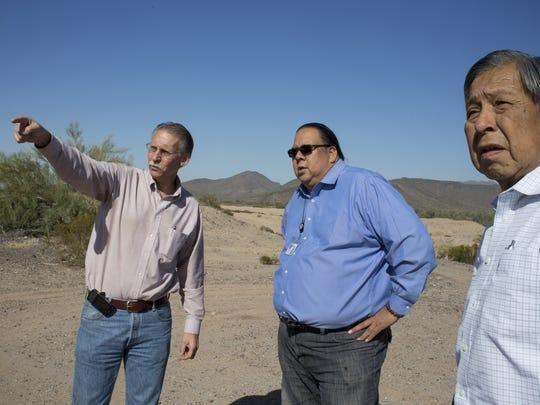 David DeLong (left), director of the Pima-Maricopa