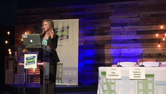 U.S. Rep. Marsha Blackburn introduced the Facebook Boost Your Business workshop for female entrepreneurs Monday in Franklin.