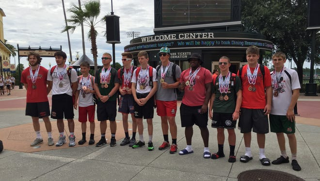 Eleven medalists helped Oak Harbor finished third overall at the AAU Scholastic Duals wrestling tournament.
