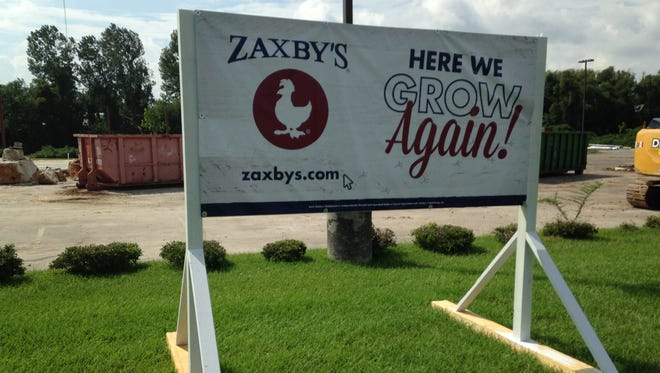 Construction on a new Zaxby's  at 1543 S. Highland Ave. has started.