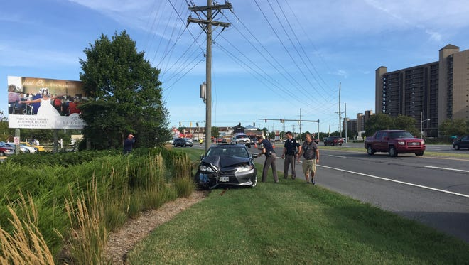 A single-vehicle crash knocked out power for some in Bethany Beach after a sedan hit a telephone pole around 9 a.m. Wednesday, Sept. 2.