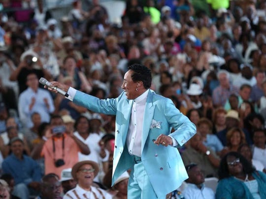 File photo of Smokey Robinson performing at Chene Park.