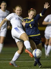 Luca Fahmer, right, will try to make sure Spencerport owns the midfield in Saturday's 10 a.m. state semifinals.