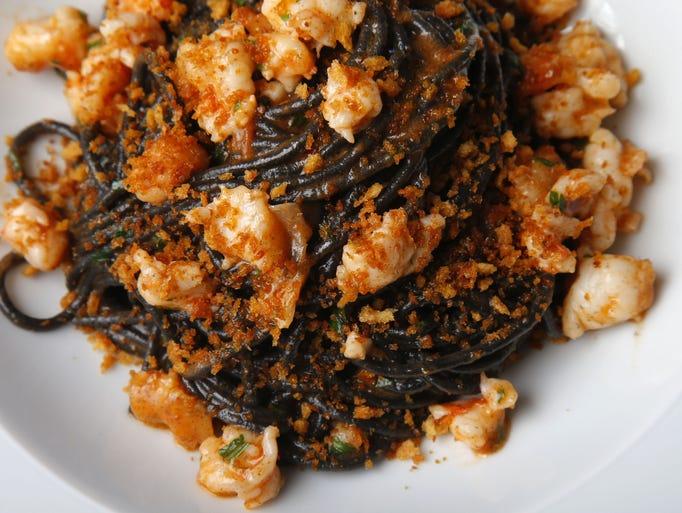 Spaghetti al nero is served at Larimar in Spring Lake.